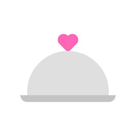 Cloche vector illustration, Isolated flat design icon