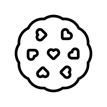 Cookie vector illustration, Isolated line design icon