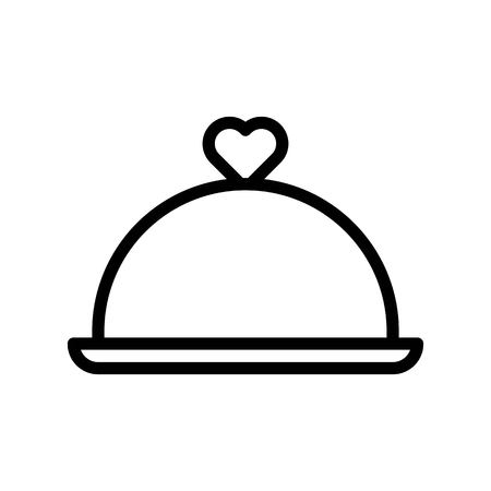 Cloche vector illustration, Isolated line design icon Çizim