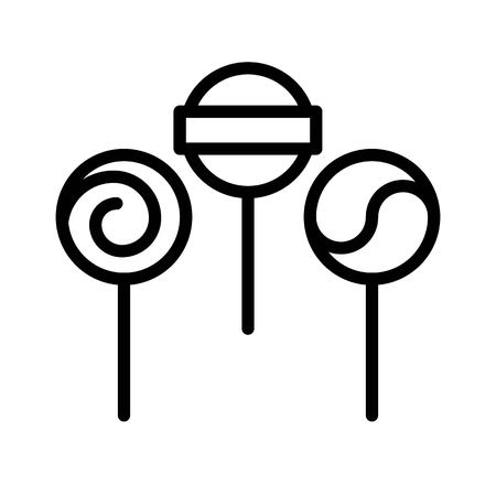Lollipop vector illustration, Isolated line design icon