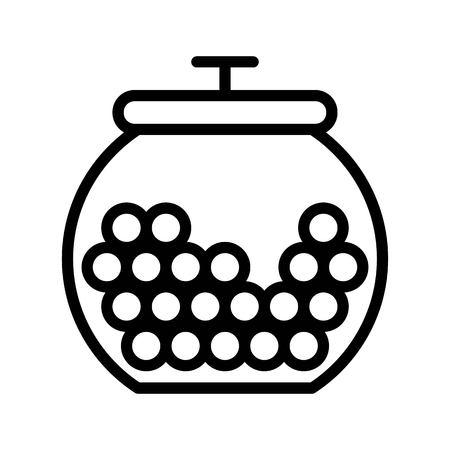 Candy jar vector illustration, Isolated line design icon Illustration