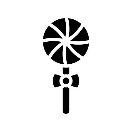 Lollipop vector illustration, Isolated solid design icon
