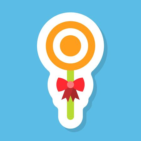 Lollipop sticker vector, Isolated flat design icon