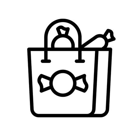 Shopping bag vector illustration, Isolated line design icon