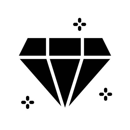 Gemstone vector illustration, Isolated solid design icon