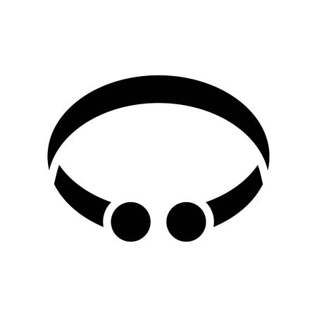 Bracelet vector illustration, Isolated solid design icon