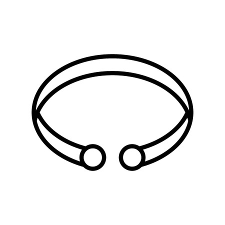 Bracelet vector illustration, Isolated line design icon Standard-Bild - 125224667