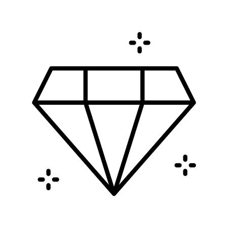 Gemstone vector illustration, Isolated line design icon
