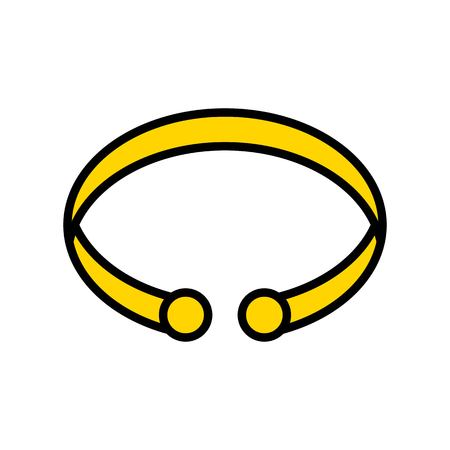 Bracelet vector icon, filled design editable outline