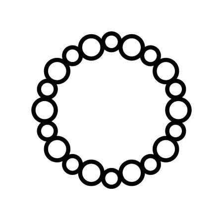 Necklace vector illustration, Isolated line design icon Ilustracje wektorowe