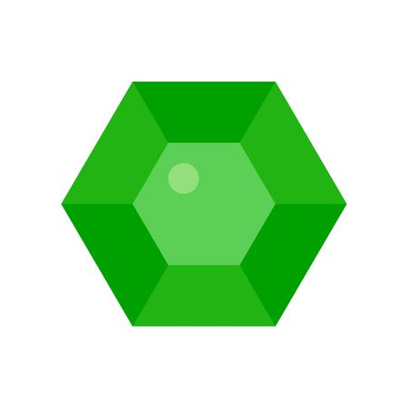 Gemstone vector illustration, Isolated flat design icon