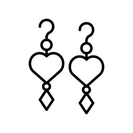 Illustrazione vettoriale di orecchino, icona del design riempita isolata Vettoriali