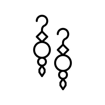 Illustration vectorielle de boucle d'oreille, icône du design rempli isolé Vecteurs
