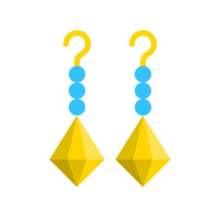 Earring vector illustration, Isolated filled design icon Illustration