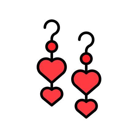 Earring vector icon, filled design editable outline Ilustração
