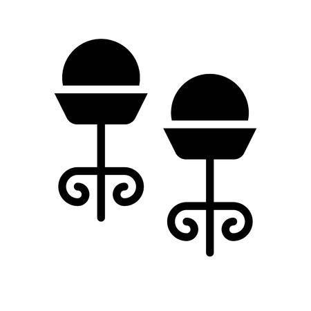 Earring vector illustration, Isolated filled design icon Ilustração
