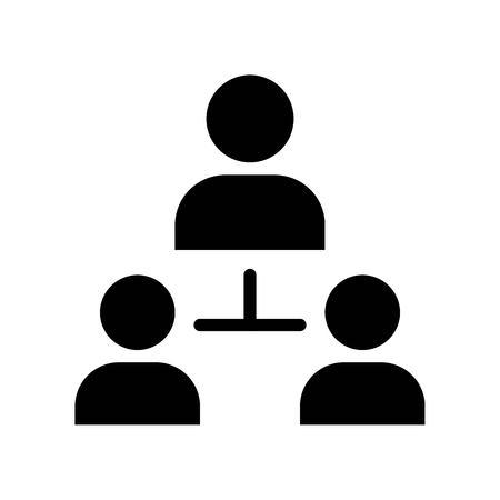 User connection vector, Social media solid design icon
