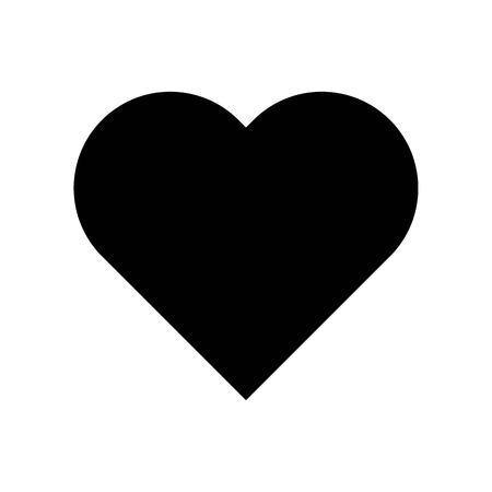 Heart vector, Social media solid design icon Illustration