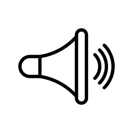 Speaker vector, Social media line design icon Illustration
