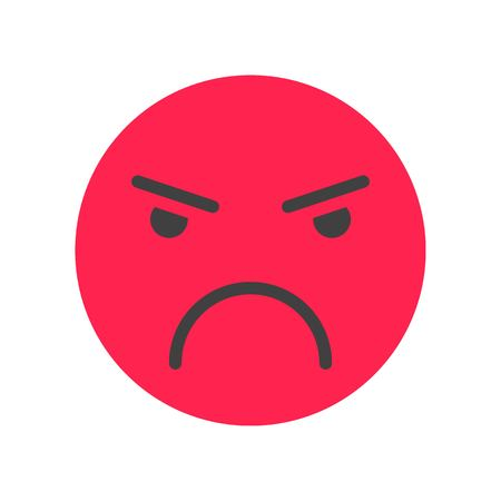 Emoticon vector, Social media flat design icon