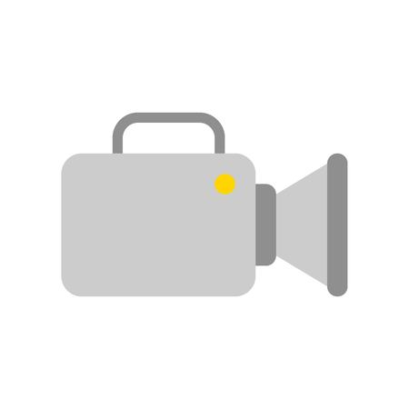 Video camera vector, Social media flat design icon Illustration
