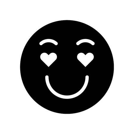 Emoticon vector, Social media solid design icon