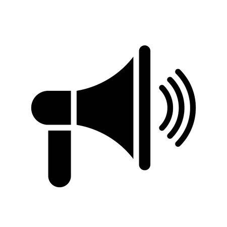 Speaker vector, Social media solid design icon Illustration