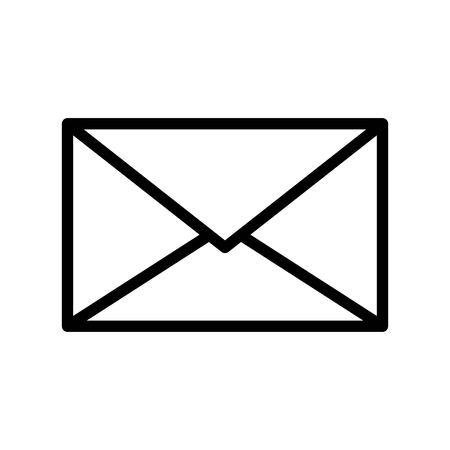 Email vector, Social media line design icon Illustration