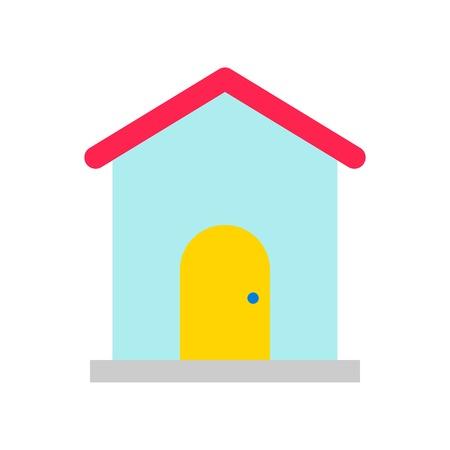 House vector, Social media flat design icon