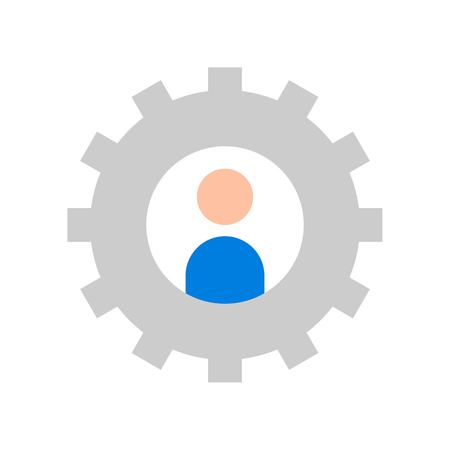 User setting vector, Social media flat design icon