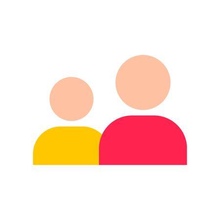 Friend vector, Social media flat design icon Illustration