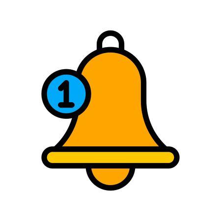 Bell vector, Social media filled style editable stroke icon Ilustrace