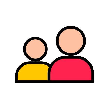 Friend vector, Social media filled style editable stroke icon