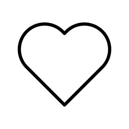 Heart vector, Social media line design icon Illustration