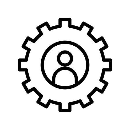 User setting vector, Social media line design icon