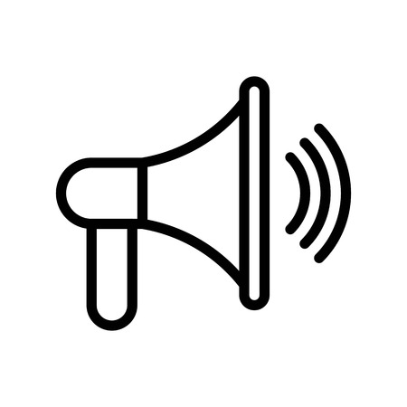 Speaker vector, Social media line design icon Stock Vector - 124922374