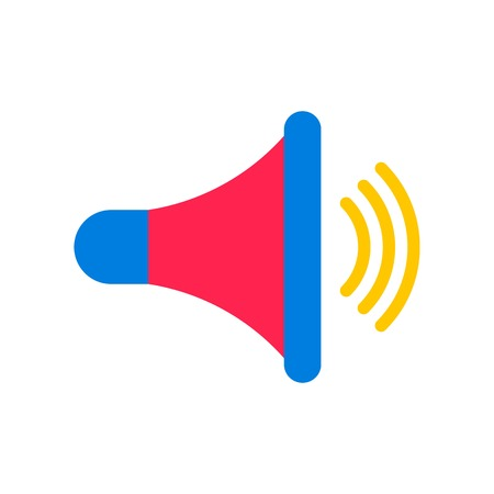 Speaker vector, Social media flat design icon