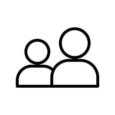 Friend vector, Social media line design icon