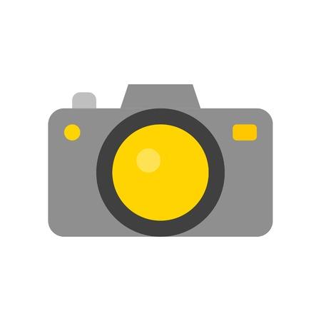 Camera vector, Social media flat design icon Illustration