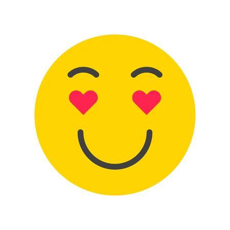Emoticon vector, Social media flat design icon Stock Vector - 117806891