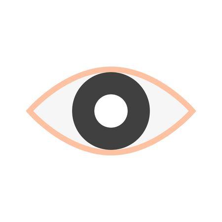 Eye vector, Social media flat design icon