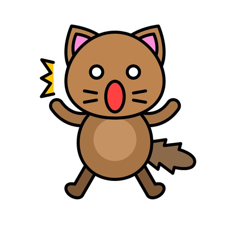 Cute Cat avatar vector illustration, filled style icon editable stroke Ilustrace
