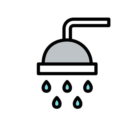 Shower vector, Hygiene filled style icon editable stroke