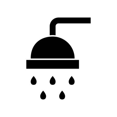 Dusche-Vektor-Illustration, Hygiene solide Design-Symbol