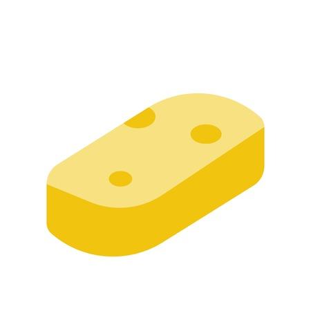 Sponge vector illustration, Hygiene flat design icon