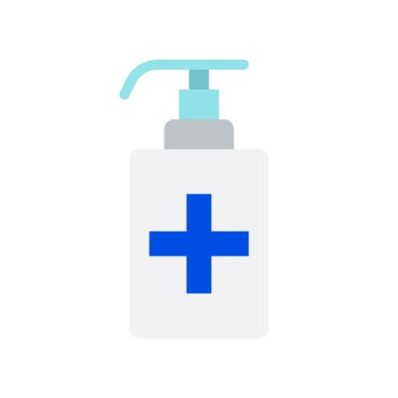 Hand sanitizer vector illustration, Hygiene flat design icon
