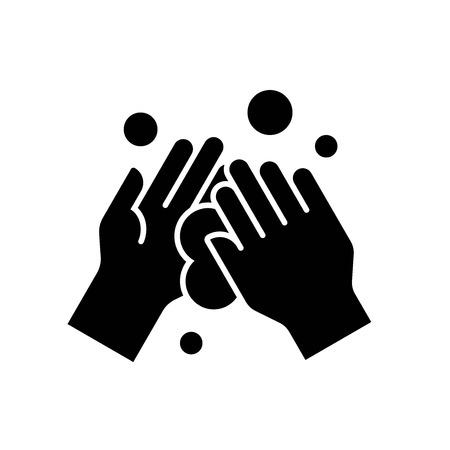Illustration vectorielle de lavage des mains, icône du design solide d'hygiène