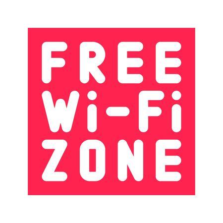 Free WiFi logo icon, wireless local area networking vector illustration