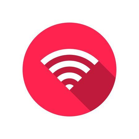 WiFi symbol icon, wireless local area networking vector illustration