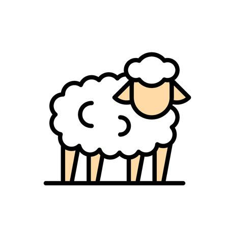Sheep vector, Easter filled style icon editable stroke